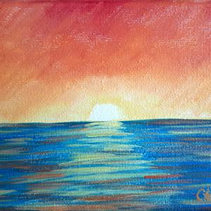 Mini Landscape Sunset Burning Sky 300